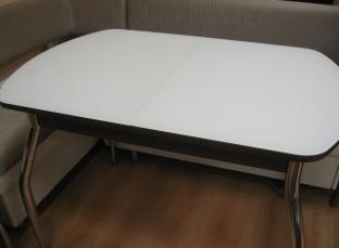 Стол Капелла белый стекло матовое